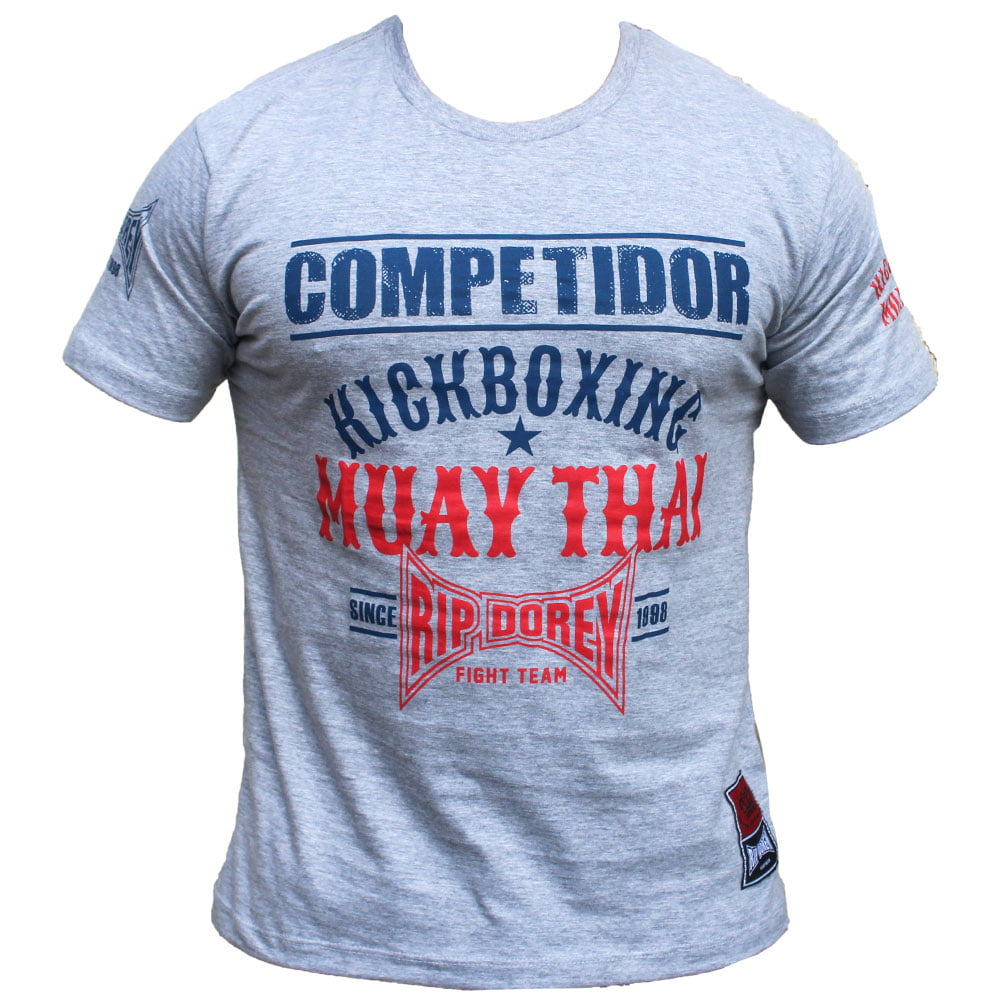 Camiseta Manga Curta Competidor Muay Thai Fight to Live