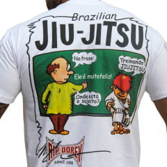 Camiseta Charges Manga Curta Feliz Treinando Jiu-Jitsu