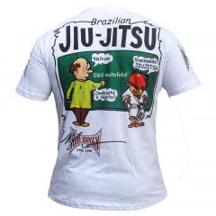 Camiseta Manga Curta E Feliz Treinando Jiu-Jitsu