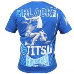 Camiseta Manga Curta Black Belt Jiu-Jitsu Fight Team