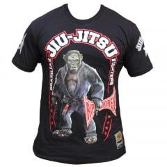 Camiseta Feras Manga Curta Kong Fighter  Preta