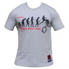 Camiseta Manga Curta Evolua Pratique Muay Thai