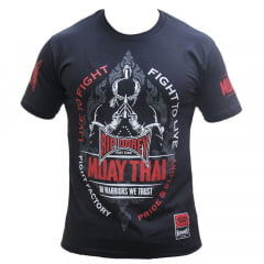 Camiseta Manga Curta Fighter Thai