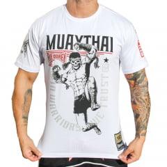 Camiseta Manga Curta Muay Thai Fight Team Branca