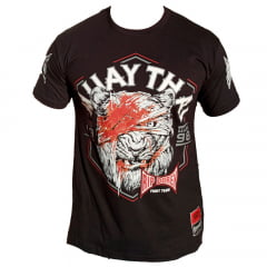 Camiseta Manga Curta  Muay Thai Tiger
